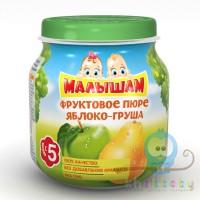 МАЛЫШАМ фруктовое пюре яблоко-груша 100 гр
